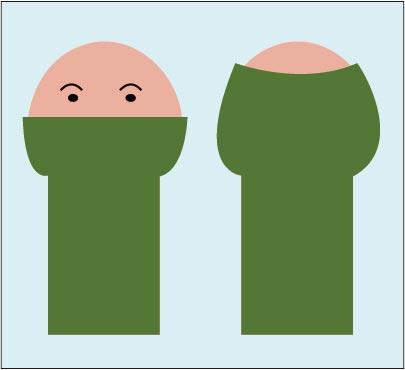 仮性包茎の包皮余り図解