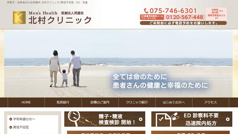 北村クリニック公式サイトのキャプチャ画像